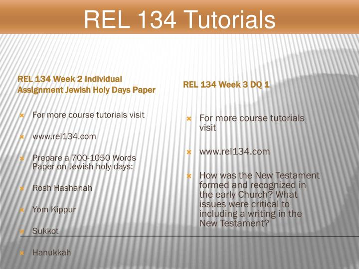 rel 134 jewish holy days