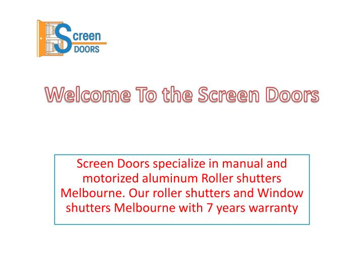 welcome to the screen doors n.