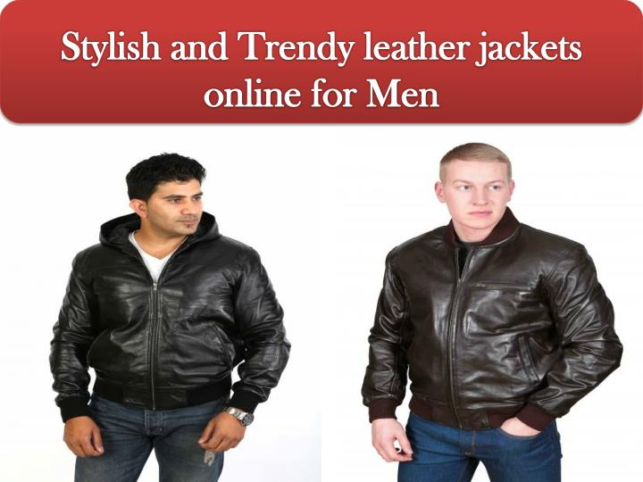stylish and trendy leather jackets online for men n.
