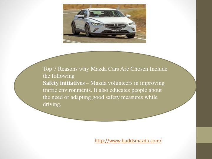 Top 7 Reasons why Mazda Cars Are Chosen Include the following