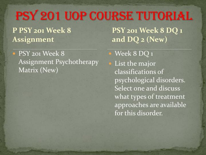 psy 201 psychology matrix Page 1 of 5 psy 201: the psychology major module 3: assignment: using excel software assignment instructions and rubric directions: read through the assignment and complete part 1 and part 2.