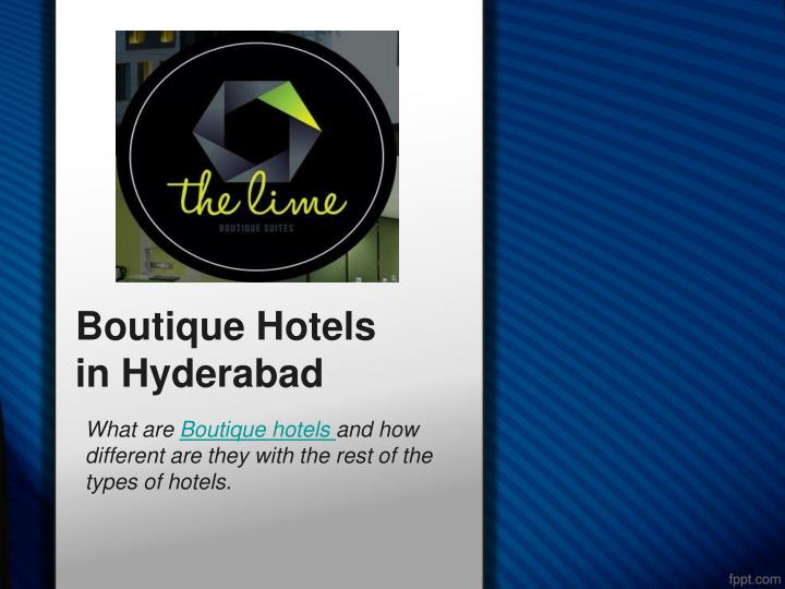 boutique hotels in hyderabad n.
