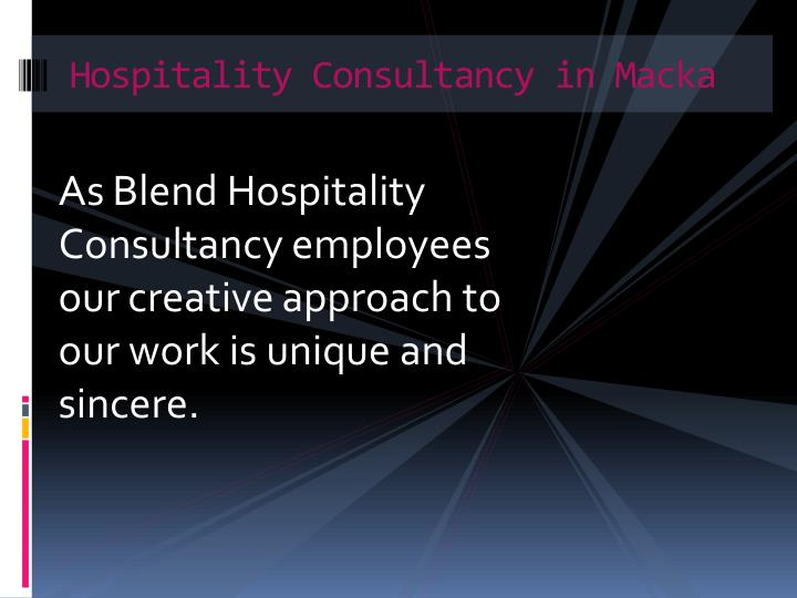 Hospitality Consultancy in