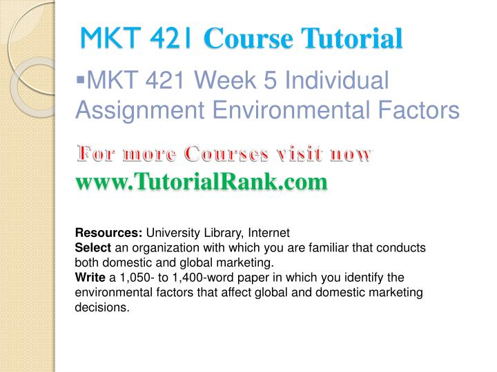 mkt 421 week 1 individual assignment defining marketing