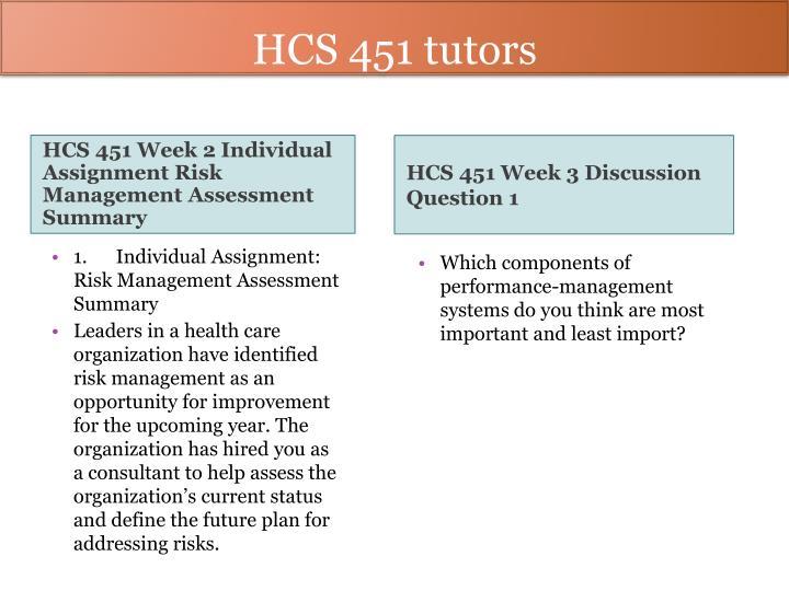 HCS 451 tutors