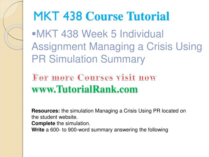 managing a crisis using pr simulation mkt 438 Running head: managing a crisis using pr simulation summary managing a crisis using pr simulation summary university of phoenix mkt/438 – public relations.