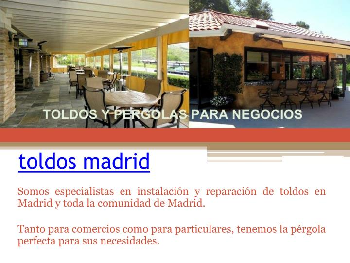 toldos madrid n.