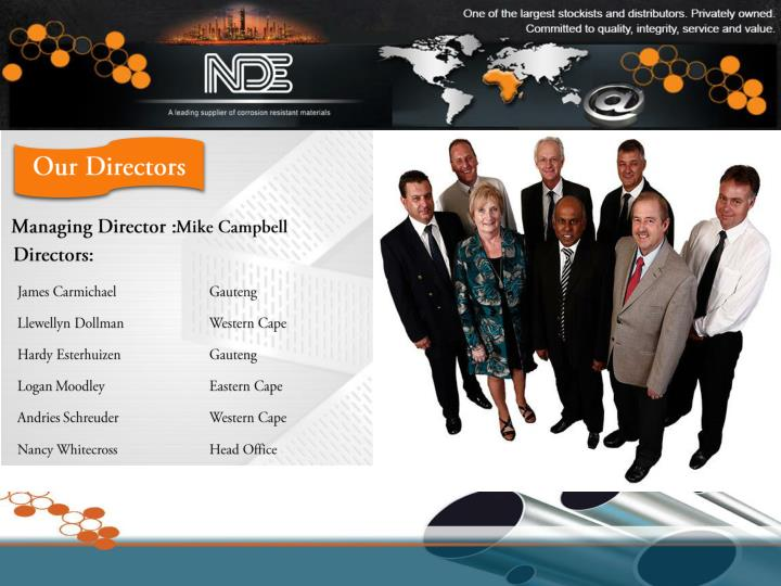 Our Directors