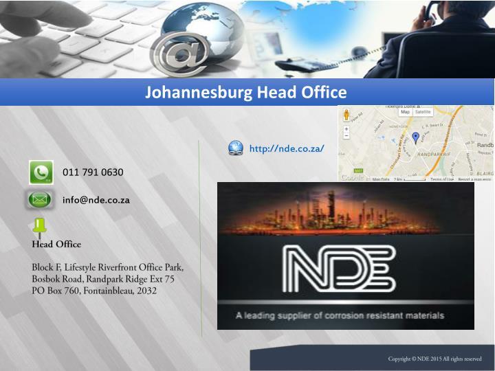 Johannesburg Head Office