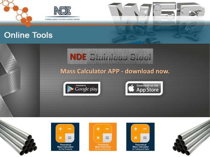 Mass Calculator APP - download now.