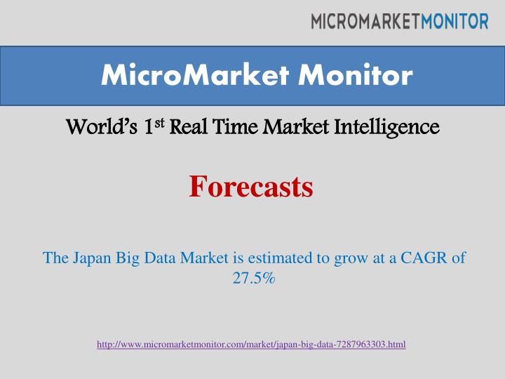 world s 1 st real time market intelligence n.