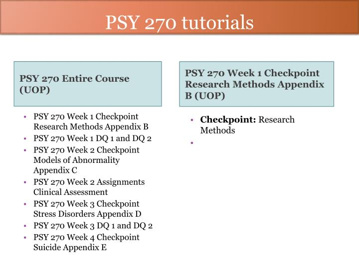 psy270 wk2 clinical assessment