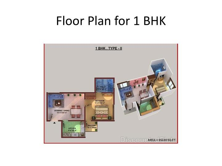 Floor Plan for 1 BHK