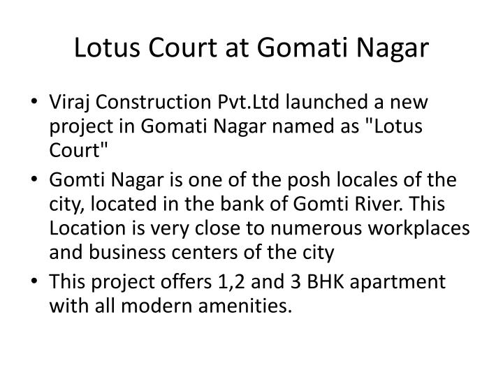 Lotus court at gomati nagar