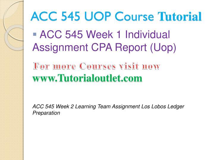 ACC 545 UOP Tutorials/Uophelp