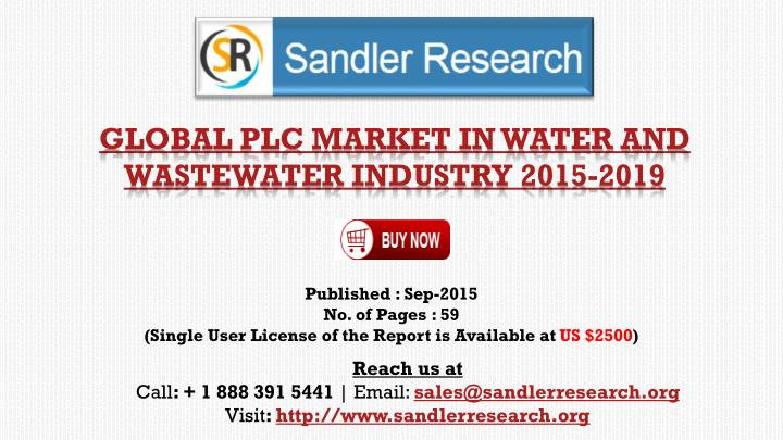 global plc market in water and wastewater industry 2015 2019 n.
