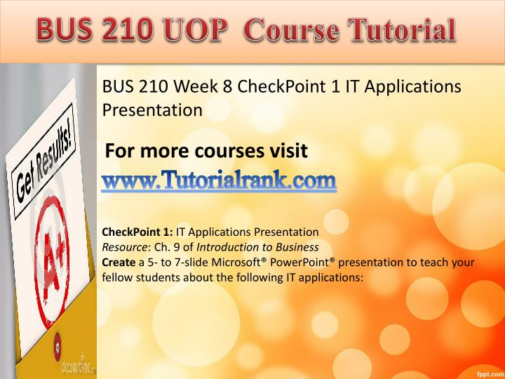 bus 210 week 6 check pointe Bus 210 swot analysis check full paper beh 225 week 6 checkpoint personality assessment bus 210 week 6 checkpoint.