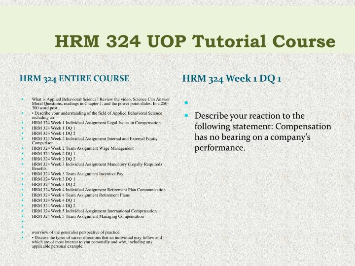 Hrm 324 uop tutorial course1