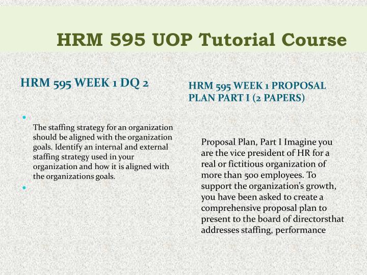 proposal plan part ii hrm 595