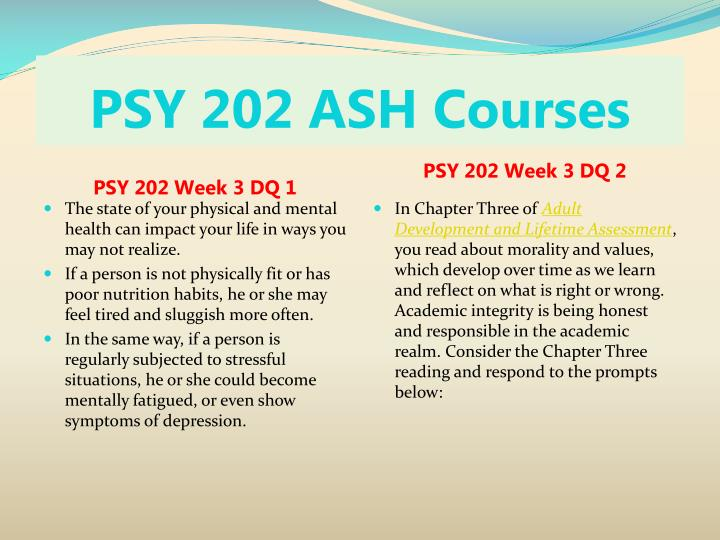psy202 developmental influences