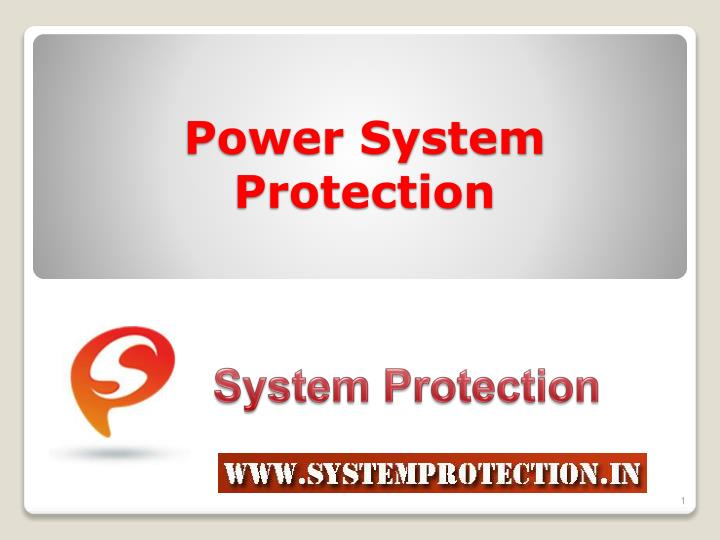 power system protection n.