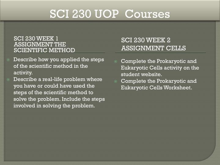 SCI 230 UOP  Courses
