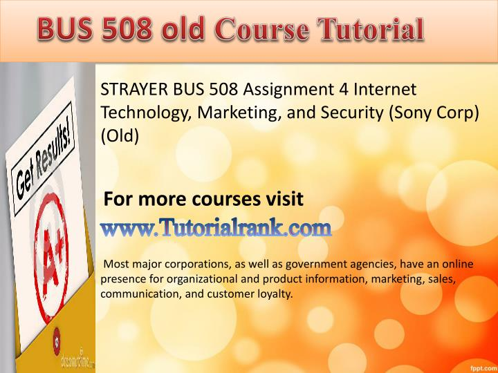 Bus508 Assignment 3 Promotional And Advertising Term Paper