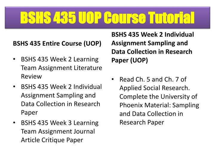 BSHS 435