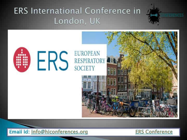 ers international conference in london uk n.