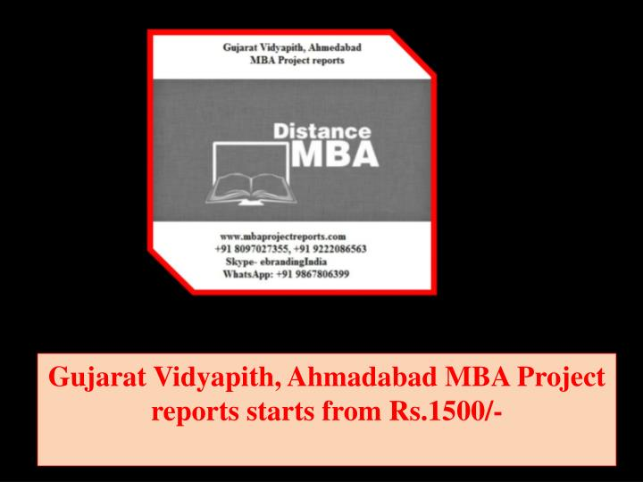 gujarat vidyapith ahmadabad mba project reports starts from rs 1500 n.