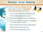 strategic group mapping