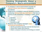 thinking strategically about a company s macro environment