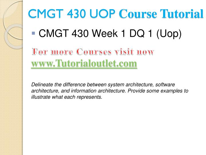 Cmgt 430 uop course tutorial2