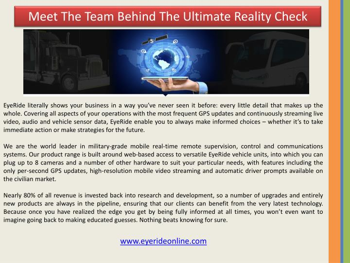 Meet The Team Behind The Ultimate Reality Check