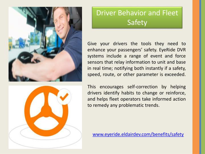 Driver Behavior and Fleet Safety