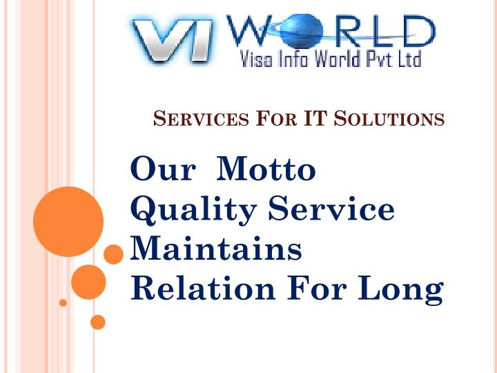 services for it solutions n.
