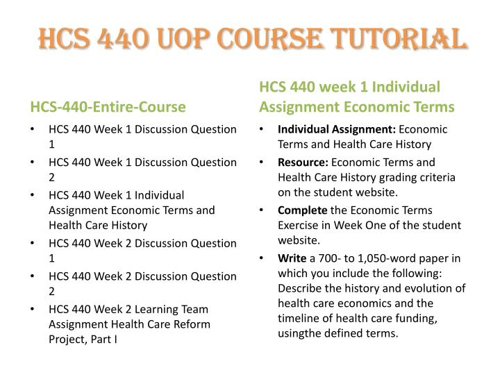hcs 440 economic terms and health care