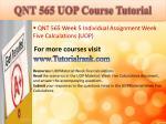 qnt 565 uop course tutorial22