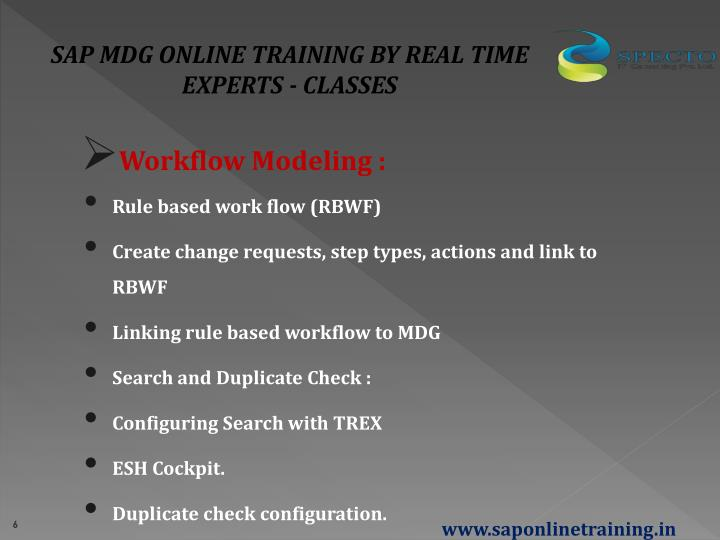 SAP MDG ONLINE TRAINING BY REAL TIME EXPERTS - CLASSES