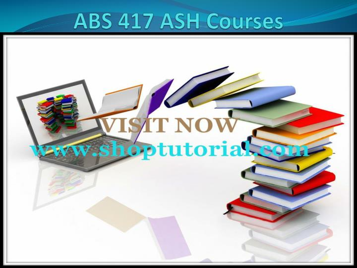 abs 417 ash courses n.