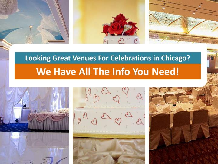 Looking Great Venues For Celebrations in