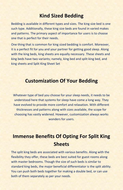 Kind Sized Bedding