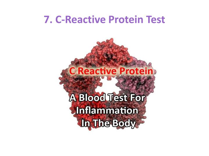 7. C-Reactive Protein Test