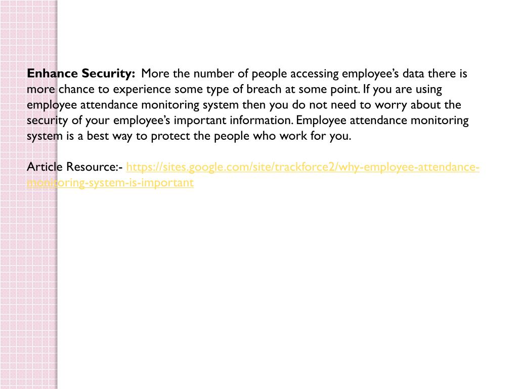 PPT - Why employee attendance monitoring system is important