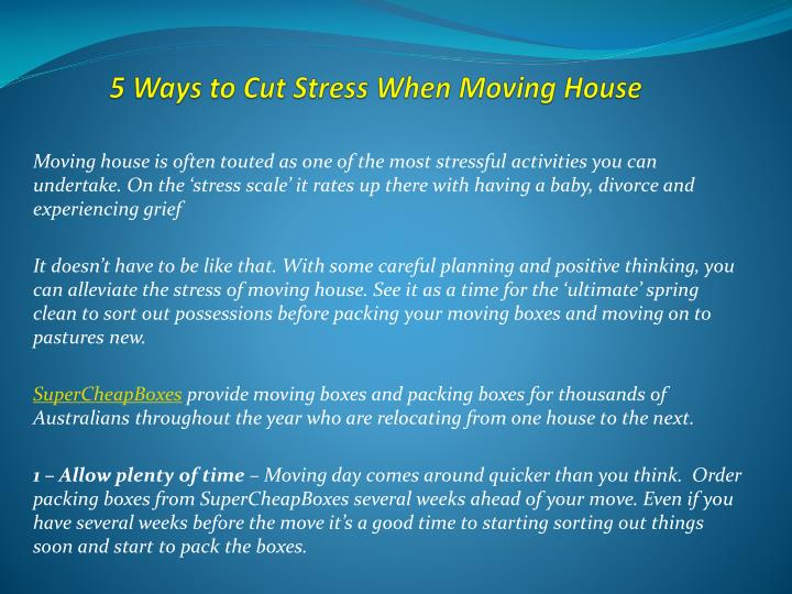 5 ways to cut stress when moving house n.