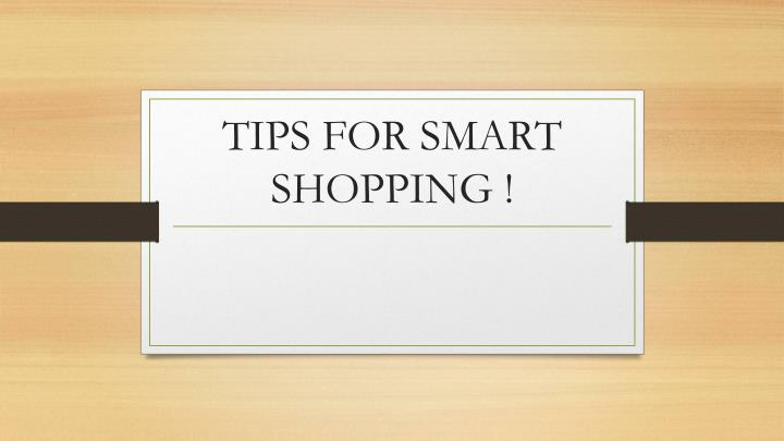 tips for smart shopping n.