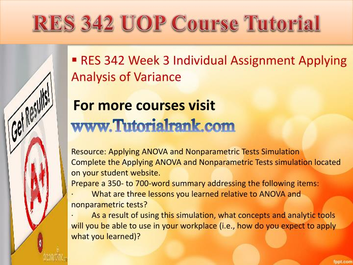 RES 342 UOP