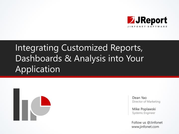 integrating customized reports dashboards analysis into your application n.