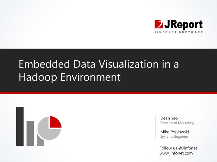 Embedded data visualization in a hadoop environment