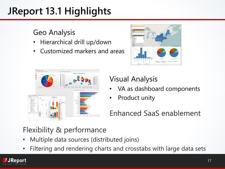 JReport 13.1 Highlights